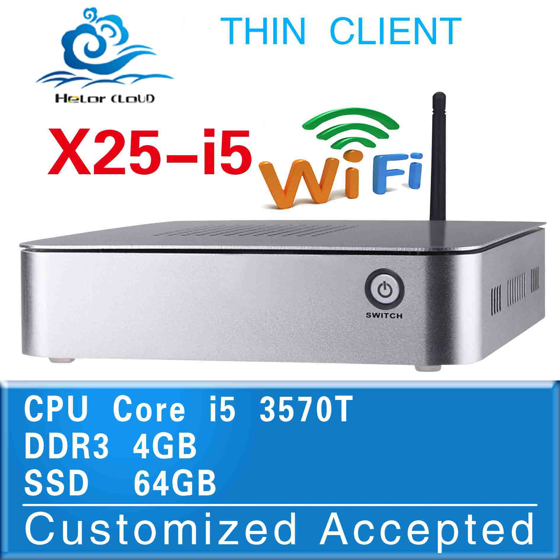 on sell fan mini pc XCY X25-i5 i5 2390T network linux embedded pc thin client 4g ram 64g ssd support wifi win7 linux windows x/p(China (Mainland))