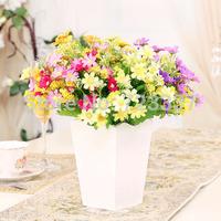 Modern minimalist Pastoral wood vase/pots mini artificial flowers decoration flower vase home decor Free shipping
