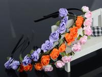 2014 Fashion Boho Style Floral Flower Women Girls Fashion Hair Accessories Garland  Hairband Headbands Festival Party Wedding