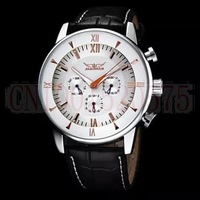 2014 Hot Sale Jaragar Multifunction  Automatic Mechanical Watch Luxury Brand real leather Mens Watch Date
