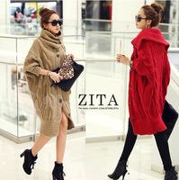 Dropshipping!2014 Autumn Women Sweater Coat bat sleeve cardigan fashion lady outcoat