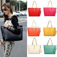 Hot Designer Large Womens Leather Style Tote Shoulder Bag Ladies Handbag Free Shipping 1pcs/lot
