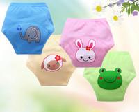 15pcs/lot reusable baby training pants waterproof girls panties cartoon newborn underwear free shipping