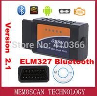 Diagnostic Tool OBD2 OBD-II ELM327 ELM 327 V2.1 with Bluetooth Car Interface Scanner Works On Android
