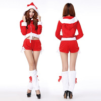 Women Christmas Suit Sexy Stage Hat Santa Claus Costume Fancy Christmas Party  Costume Cute Suit CH003