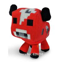 Free shipping !! 16CM Minecraft Moo mushroom stuffed plush doll minecraft plush toys of my small world,minecraft creeper