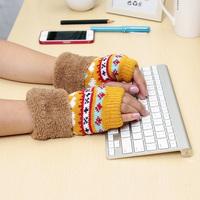 5pairs/lot winter women fingerless gloves warm girls mittens christmas gift free shipping