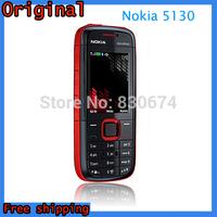 Free Shipping Original Nokia 5130 XpressMusic Russian Keyboard Mobile Phone