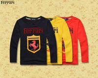 Retail 2014 New Brand Baby's autumn fashion Clothes/Children's plaid long sleeve cotton T-shirt,Boy's sports shirts+Free Post