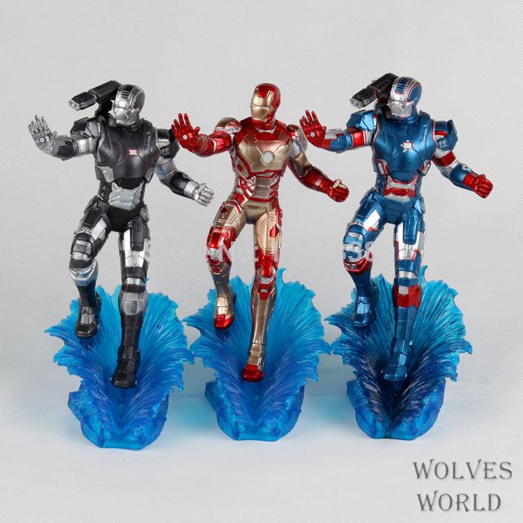 Free Shipping Marvel Super Hero Action Toys Figure PVC Iron Man Garage Kits Herois Phone Strap Decoration Christmas Gift(China (Mainland))