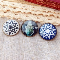 Free Shipping Arrow Oliver Queen Brooch Hot Sale Vintage Broche Pin Up Brooches For Clothing Juego De Tronos Christmas Gift