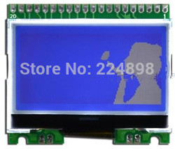 20PIN Blue Backlight COG 12864 LCD Module with Chinese font ST7565R Controller 3.3V / 5V(China (Mainland))