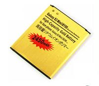 High capacity 2450Mah Gold Battery for Samsung Galaxy S3 mini I8190 batterie Galaxy S Duos S7562 bateria