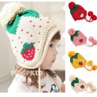 2014 New Baby Caps Cartoon Dinosaur Knitting Children's Lovely Warm Hats Wool Beanies Cap Ear Protect Fall Winter Gift Hat-1