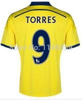 Chelsea Jersey 14 15 Best Thailand Quality Chelsea 2015 Football T Shirt Away Yellow Training Uniform Hazard Oscar Schurrle