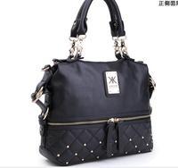 Fashion 2013 kardashian kollection brand black chain women's handbag shoulder bag big bag KK