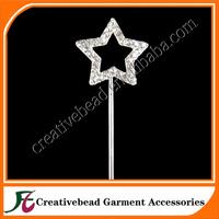 2014 China wholesale small star rhinestone cake topper for wedding cake decoration free shipping