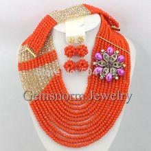 Gorgeous Dubai Gold Jewelry Set Wedding Crystal Beads Jewelry Set Mix Styles Beads Sets Free Shipping