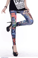 Fashion Women pants adventure time Fitness Sexy Fashion-forward Coloful Leggings punk LC79249 Free Shipping