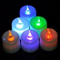 New Christmas Decoration Suppliers 20pcs Christmas Plastic Multicolor LED Desk Decor Lamp Light 3.6x4.1cm B81634