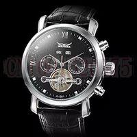 2014 JARAGAR Luxury Watch Men Day/Month Tourbillon Mechanical Watches Stell Men's Watch Wristwatch Free shipping