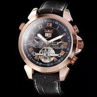 2014 Hot Sale Jaragar Multifunction Tourbillon Automatic Mechanical Watch Luxury Brand Mens Watch 4 Hands Date