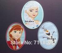 Sales promotion!! Felt Frozen Elsa Anna Iron On Patches cartoon Appliques patch kids accessory 12pcs/lot