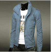 2014 hot sale men jacket Men's cotton stylish coat fashion style jacket slim jacket