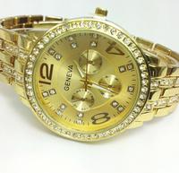 Geneva men's fashion diamond three steel quartz watch 1011 40722188422