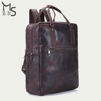 Men's Backpack Genuine leather backpacks for men Multifunction Large capacity luggage backpack