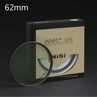 NiSi 62mm WMC UV 13 Layers Muti-Coating Slim Lens Filter Waterproof  62mm Ultra-Thin MC UV For Digital SLR Camera