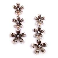 New 2014 Min order $10 fashion jewelry hot sale women  vintage flowers statement stud Earrings for women jewelry Factory Price