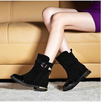 2014 Martin boots English style slow heel shoes Side zipper casual women Martin boots dr4