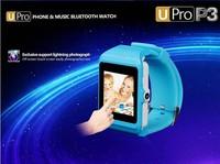 "Bluetooth Smartwatch Wristwatch Upro 3 1.55"" Bluetooth 3.0 Wrist Smart Watch phone U-PRO P3 Pedometer For Iphone"
