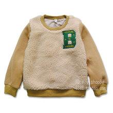 3421 kids children's clothing boys girls casual winter  sweatshirts  Increasing  thickness dress(China (Mainland))