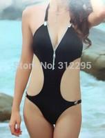 Freeship S M,L, 5LZ551 Vintage Zipper Hot 2014 New Women Brand Swimwear One Piece Bikini Sets Famle Fashion Sexy Swimsuit Latest