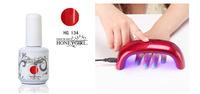 sale 2sets/lot china nail soak off uv led color gel polish glaze lacquer bulk with 9w mini led lampchristmas gift set