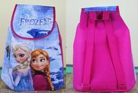 12pcs/lot Sale 2014 Frozen Anna Elsa Prince peppa pig Non-woven String Backpack gift for Kids Children's School Bag birthday