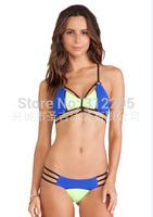 Freeship S M,L,5LZ562 Vintage Bandage Low Price 2014 New Women Brand Swimwear Bikini Sets Famle Fashion Sexy Swimsuit Latest