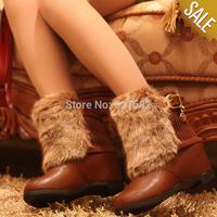 Plus Size36-40 Fashion Elegant Lady's Short Winter Warm Fur Ankle Charming Snow Boots Sports Jogging Women Shoes Villus 35-39