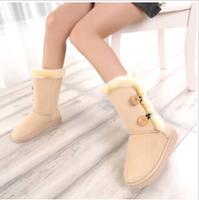 2014 women snow boots flat heel round head Half Boots comfortable women snow boots dr13