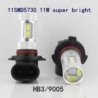 A++++High Quality free shipping 2pcs HB3 9005 11SMD5730 11W high power super bright led fog light headlamp auto high/low beam