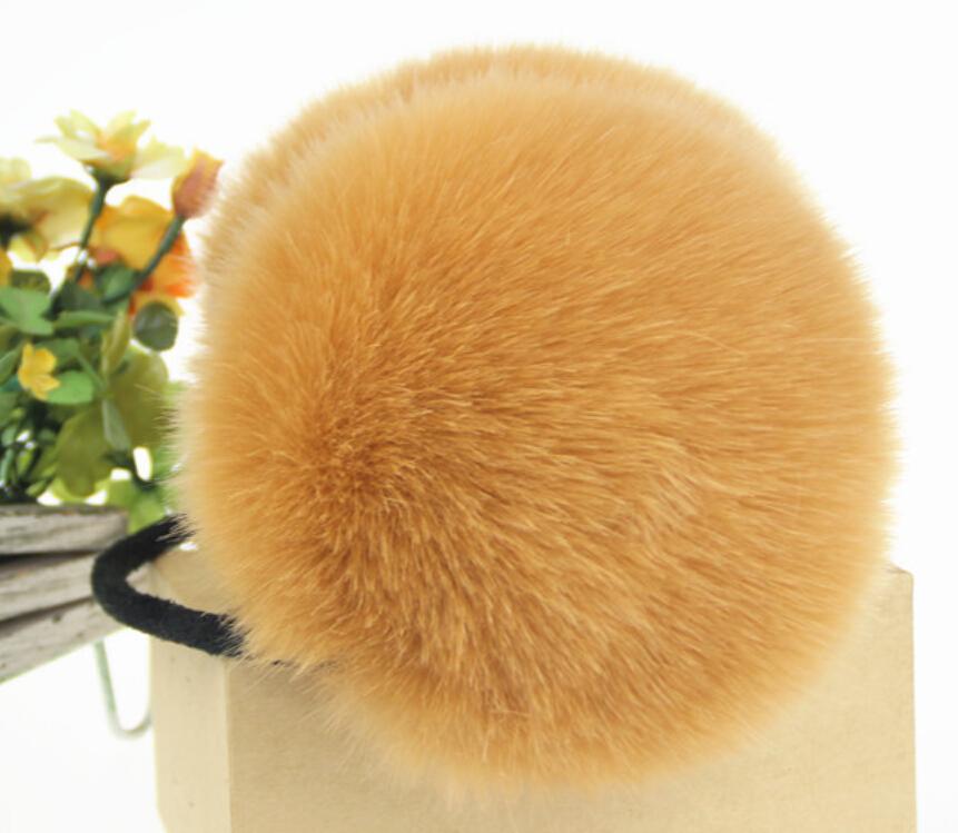 5pcs/lot Winter ear muff earcap for women faux rabbit fur girl's earmuffs ear warmer free shipping(China (Mainland))