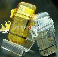 2pcs Waterproof Jet Flame Butane Windproof Hunting Camping Fishing Lighter