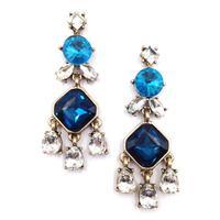 2014 wholesale fashion women statement crystal earring stud earrings for women Factory Price