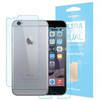 For iPhone 6 Plus Original Spigen Ultra Crystal Dual Screen Protector, Premium Front & Back PET Films for Apple iPhone 6 Plus