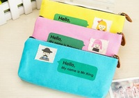 Cartoon Characters 20CM Canvas Kids School Pen Pencil BAG Case Pouch ; Cosmetics Purse BAG & Wallet Coin Pouch BAG Case