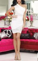 Wholesale new fashion white purple dresses women elegant vestidos bandage dress party dresses