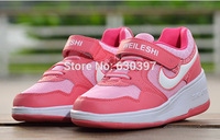 2014 Children Shoes For Kids Sneakers sports Shoes Girls Boys One Wheel Roller Shoes