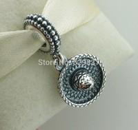 925 Sterling Silver Sombrero Pendant Bead Fits European Jewelry Bracelets Necklaces Pendants